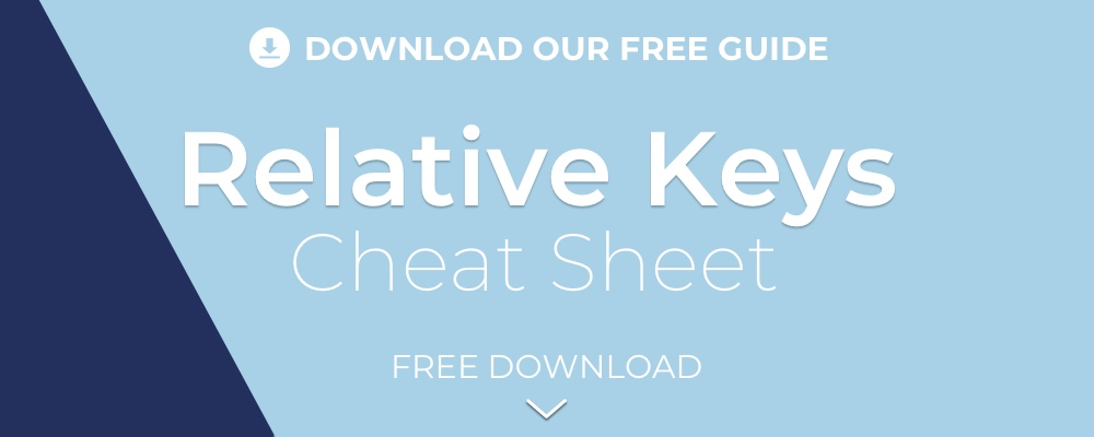 Relative Keys Cheat Sheet Worship Leader School